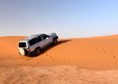 En 4x4 dans le désert