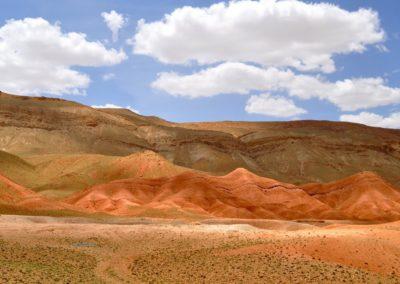 Vallées colorées au Maroc