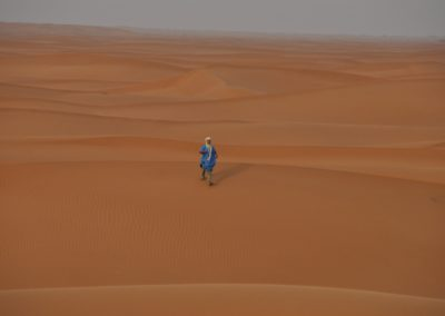 Dunes de sables dans le désert marocain