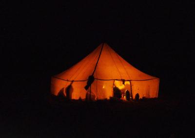 Nuit en tente nomade dans le désert marocain