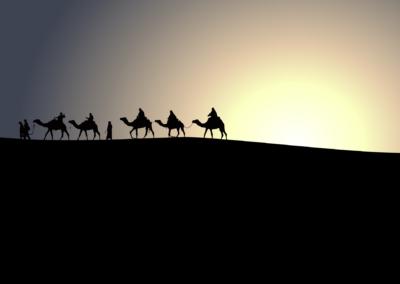 Coucher de soleil aux Dunes de Chegaga