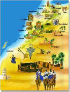 carte du desert marocain